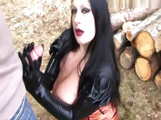 Sucking Forest Laddie - Blowjob Handjob with Rubber Gloves - Fuck my Mouth - Fuck my Bowels - Cum on my Bowels