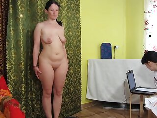 Russian girls play a medical investigation