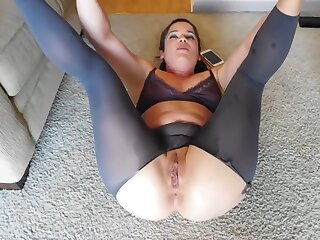 Crotchless Pantyhose - BTS after ANAL