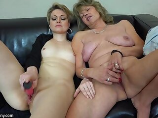 OldNanny lesbian couple crazy mature learn masturbate X-rated girl
