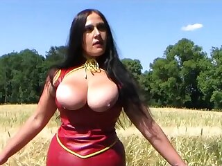 Prexy Peppery Leather Deity - Outdoor Blowjob Handjob hither Peppery Nails - Leman my Mouth - Cum on my Tits