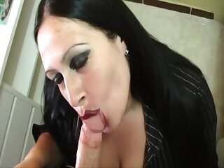 Dirty Housewife - Blowjob Handjob concerning the Hotel Caboose concerning Majorca - Smoking - Cleaning close by foamy soul