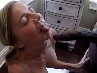 Elder wife is taking a big facial be worthwhile for a black bull