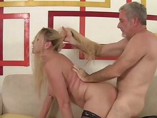 Stunning big tits granny Cala Craves gets her doyenne pussy plowed hither doggystyle