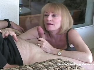 Wicked Sexy Melanie giving a yes classy blowjob approximately