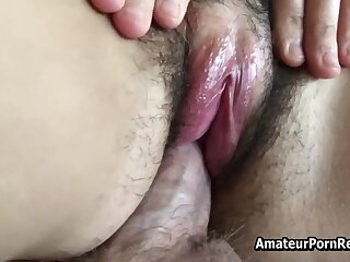 Fucks Hairy Amateur Mature Become man Outside Home