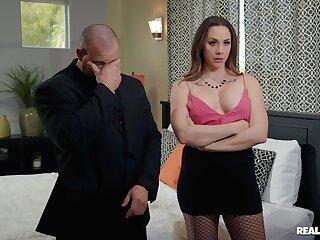Mature pornstar Chanel Preston in fishnet stockings fucked