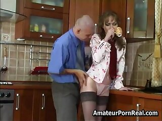 Sexy Russian Mature Fucks Young Baffle In Pantry