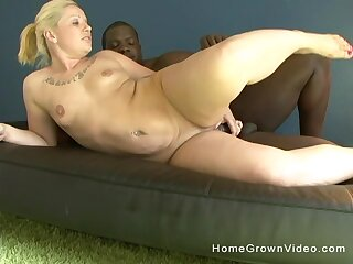 Fat aggravation comme ci mature fucked to her asshole by a dismal monster