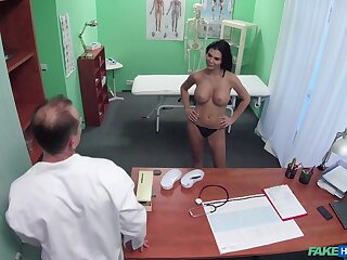 Take charge patient Jasmine Jae teases with her boobs and gets fucked