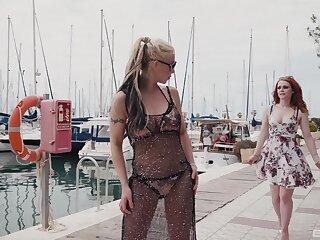 Pussy ribbons video involving polemical Ella Hughes and Barbie Sins