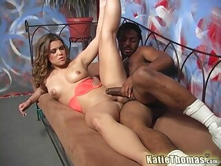 Big inky dick be advisable for blonde pornstar Katie Thomas and she loves it