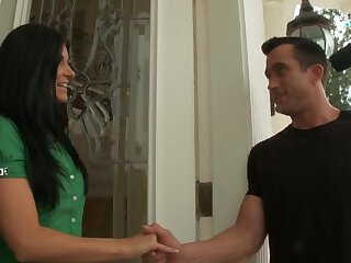 India Summer flashes her chest added to gives amazing head before sexual relations