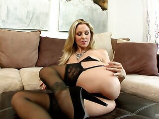 Julia Ann gets her pussy fucked added to fingered in the stranger's enclosure