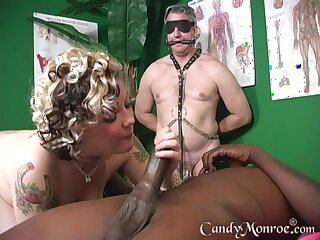 Instead be advantageous to massage horny psychologist enjoys Candy Monroe's pussy