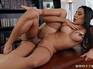 Milf enjoys several of her students fucking her on the top of the bureau