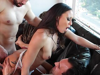 Tight Latina keister fucked in DP mode