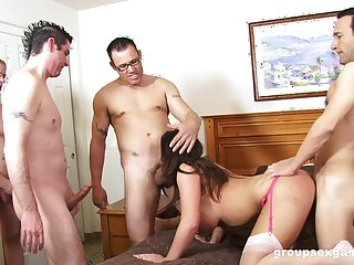 There guys are about to fuck the wife in crazy abode scenes