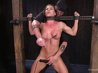 Extreme throes for Ariel X with double penetration from toys