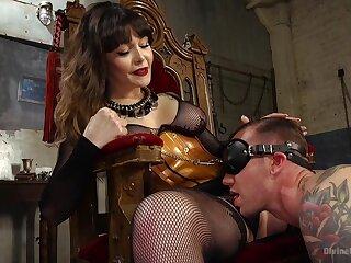 Acclaimed Domme Danielle Foxx exerts her authority in the hottest manner