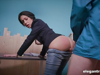 News host Eloa Lombard is ready for quite hard anal banging