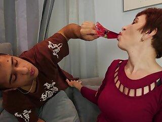 Short haired MILF Nicola porn video