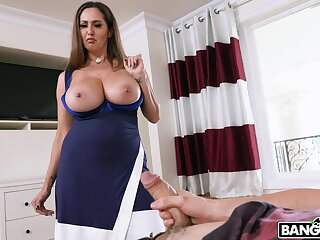 Wild riding in cowgirl by busty mature mommy Ava Addams. HD