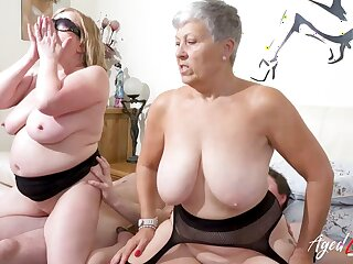 AgedLovE Busty British Matures Hard Group Sex