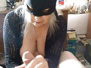 Closeup video of a dirty fat mature sucking a dick of her man