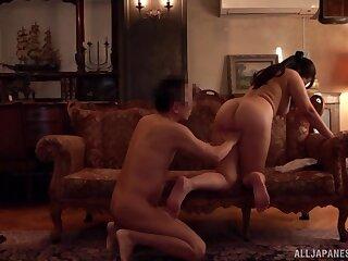 Amateur fucking on the floor with Asian slut Kaori who loves cum