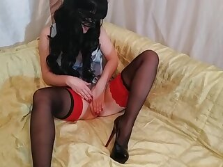 Slut Alice In Stockings And Itsy-bitsy Panties