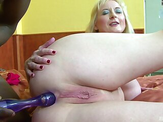 Anal sex for the curvy granny in scenes of inexpert interracial