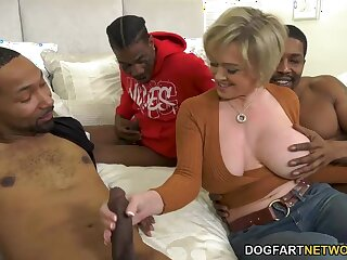 Big breasted happy MILF Dee Williams takes double BBC penetration