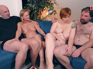 German amateur swinger couple party