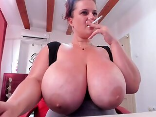 Huge breast nourisher on webcam - hot bungler porn